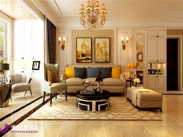 保利华庭装修三居室欧式风格