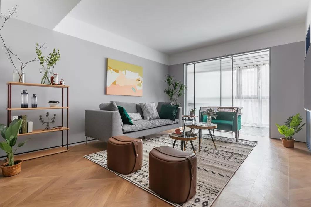 客厅图片来自用户20000004910458在北欧风格120㎡装修风格的分享