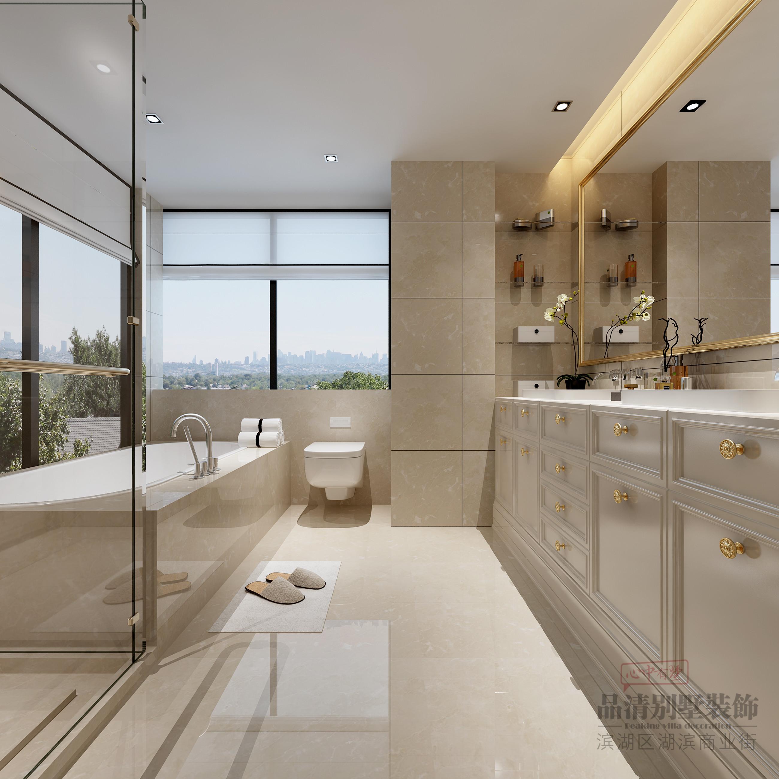 欧式 别墅 客厅 卧室 厨房 餐厅图片来自别墅装修设计师在奥林匹克540㎡简欧风的分享
