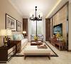 本案例为山西紫苹果装饰滨河果岭新中式风格客厅装修案例