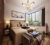 本案例为滨河果岭128平米新中式风格三居室装修案例