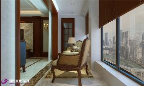 美式 阳台图片来自济南城市人家装修公司-在汉峪海风装修美式风格效果图的分享