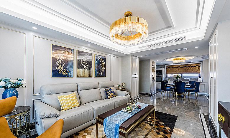 客厅图片来自家装大管家在儒雅端庄 98平新中式时尚3居室的分享