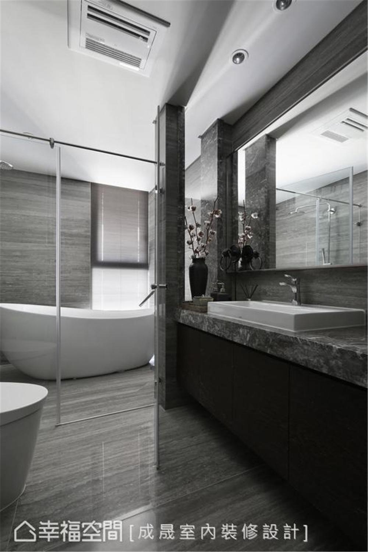 装修设计 装修完成 现代风格 卫生间图片来自幸福空间在175平,阴阳调和  人文宅邸的分享