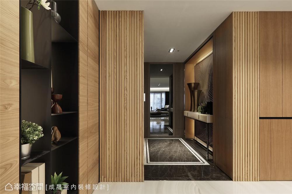 装修设计 装修完成 现代风格 玄关图片来自幸福空间在175平,阴阳调和  人文宅邸的分享