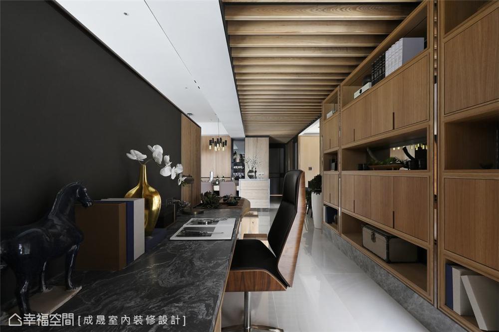 装修设计 装修完成 现代风格 书房图片来自幸福空间在175平,阴阳调和  人文宅邸的分享