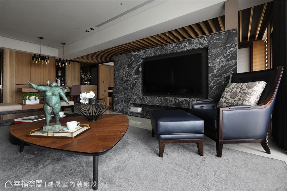 装修设计 装修完成 现代风格 客厅图片来自幸福空间在175平,阴阳调和  人文宅邸的分享