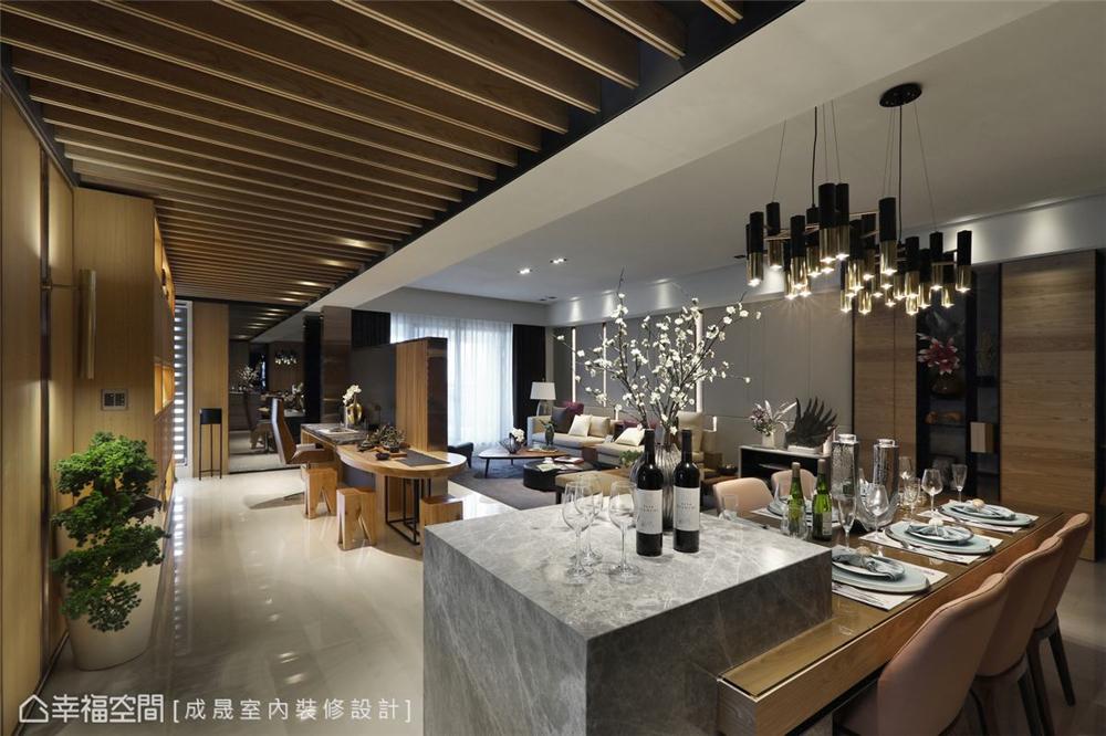装修设计 装修完成 现代风格 餐厅图片来自幸福空间在175平,阴阳调和  人文宅邸的分享