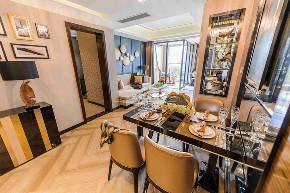 现代 洋房 小资 餐厅图片来自重庆兄弟装饰黄妃在龙湖九里晴川揽境洋房装修效果的分享