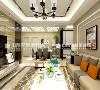 太原紫苹果装饰阳光揽胜130平米简约风格客厅装修案例