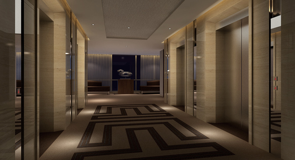酒店设计 楼梯图片来自智尚设计在上海商务酒店装修设计效果图的分享