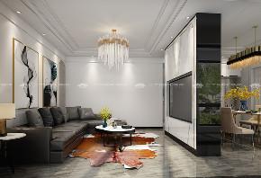 现代简约 时尚 大气 高富帅 白富美 温馨 白领 小资 混搭 客厅图片来自二十四城装饰(集团)昆明公司在蓝光·林肯公园  现代简约的分享