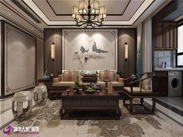 海尔云世界三室两厅中式装修