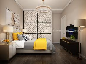 现代简约 时尚 大气 高富帅 白富美 温馨 白领 小资 混搭 卧室图片来自二十四城装饰(集团)昆明公司在蓝光·林肯公园  现代简约的分享