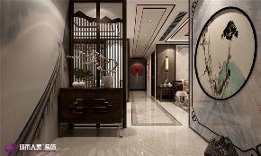 中式 玄关图片来自济南城市人家装修公司-在海尔云世界三室两厅中式装修的分享