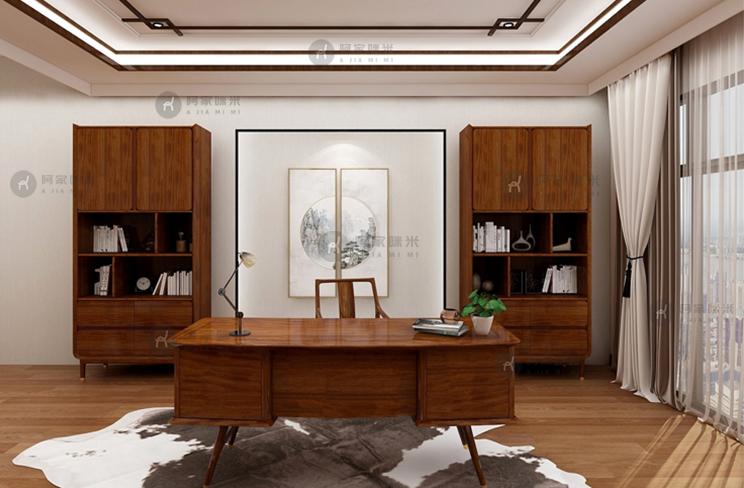 乌金木家具 书房 北欧图片来自浙江阿家咪米在北欧乌金木家具书房实木家具的分享