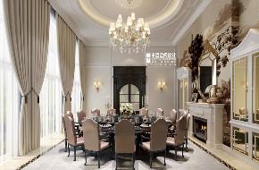 别墅 新古典 欧式 申远 别墅装修 餐厅图片来自申远空间设计北京分公司在优山美地-新古典风格的分享
