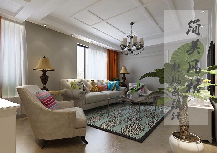 客厅图片来自沈阳百家装饰小姜在百家装饰金地左岸106平简美风格的分享
