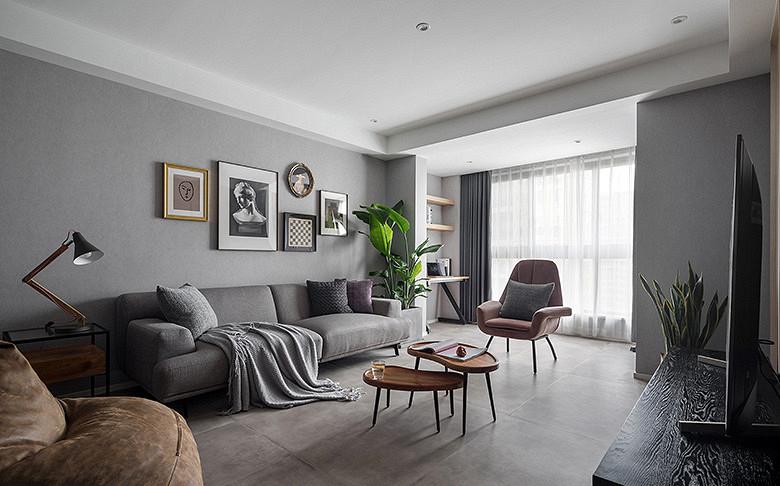 客厅图片来自家装大管家在布局紧凑 105平北欧素雅时尚3居的分享