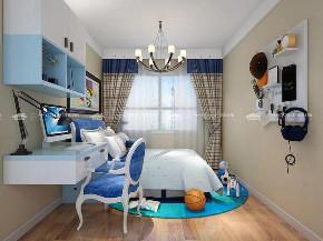 地中海 地中海风格 浪漫 文艺 小资 舒适 温馨 清新 未来家 卧室图片来自二十四城装饰(集团)昆明公司在中航玺樾  地中海风格的分享