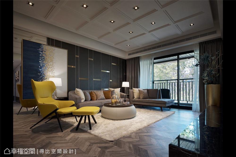 装修设计 装修完成 现代风格 客厅图片来自幸福空间在126平,大器简约时尚宅的分享
