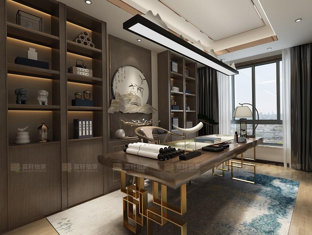中式 书房图片来自富轩怡家在富轩怡家案例的分享