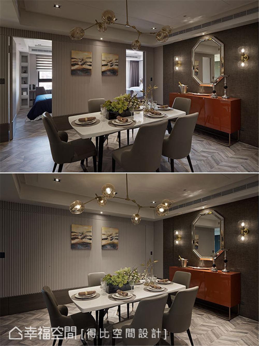 装修设计 装修完成 现代风格 餐厅图片来自幸福空间在126平,大器简约时尚宅的分享