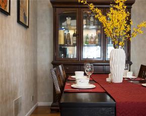 三居 旧房改造 收纳 美式 餐厅图片来自北京今朝装饰在美式一家的分享