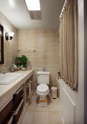 美式 二居 收纳 旧房改造 80后 卫生间图片来自北京今朝装饰在重重美式的分享