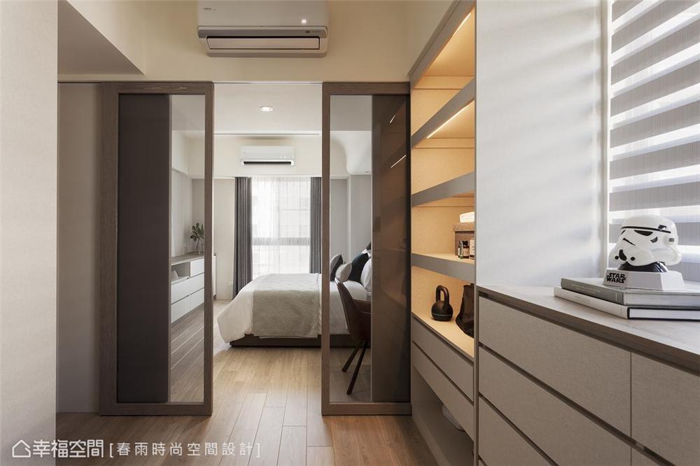 装修设计 装修完成 休闲多元 卧室图片来自幸福空间在109平 ,休闲风收纳机能宅的分享
