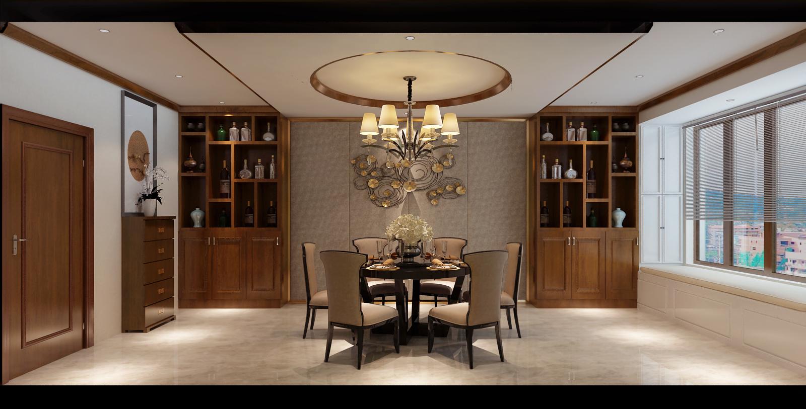 别墅 客厅 餐厅 中式图片来自Fr设计师在江南雅韵的分享
