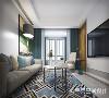客厅整体色调选用了简约大气的灰色白色,相互搭配起来给人一种十分舒服的感觉。富有质感的圆形茶几,颇有禅意的绿植点缀其间,在格局布置之上营造出时尚的前卫效果。