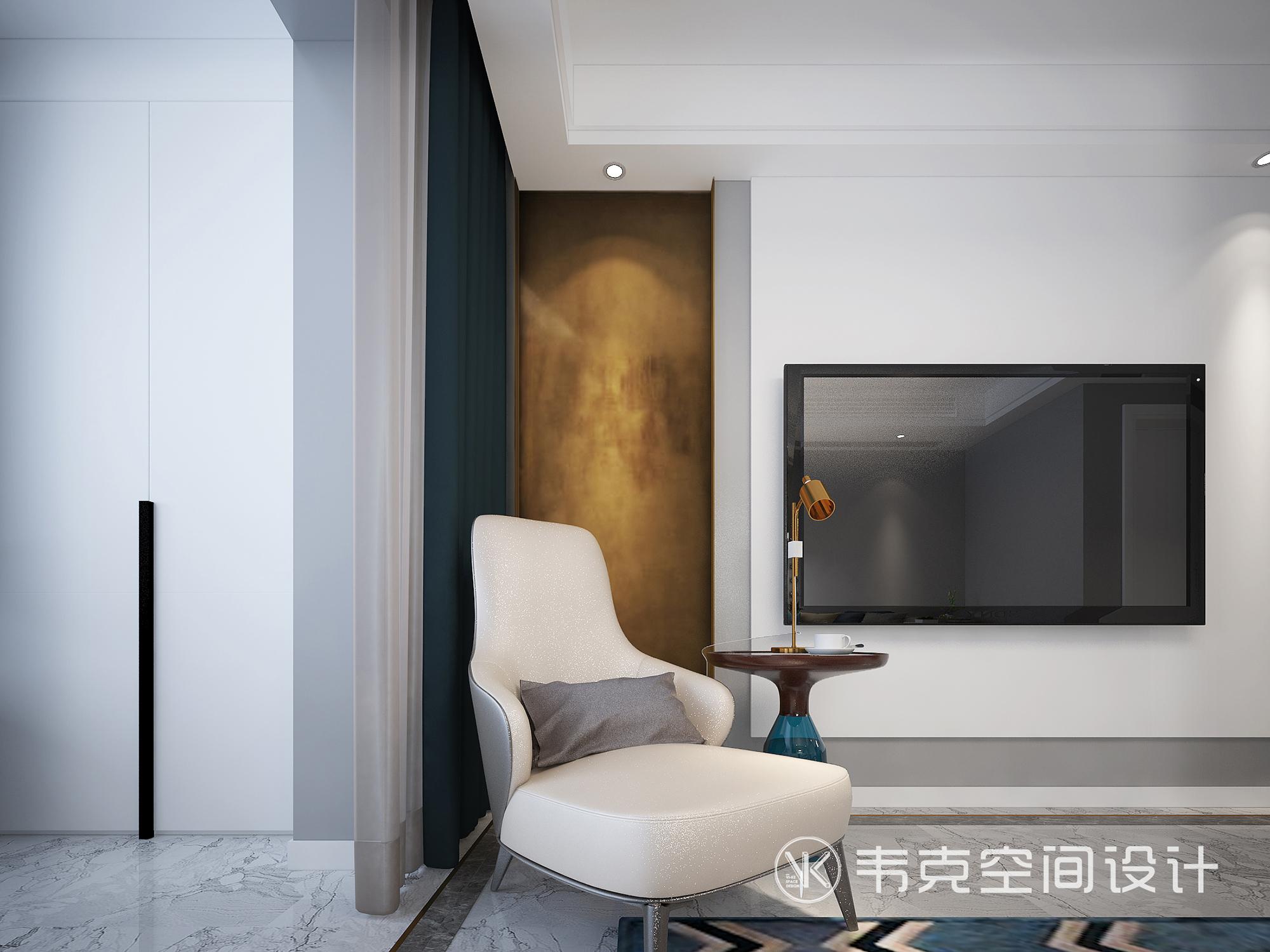 客厅图片来自韦克空间设计在简约二居室,给心一个栖息的地方的分享