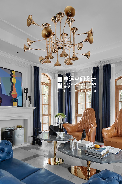 别墅 现代法式 法式 现代 申远 客厅图片来自申远空间设计北京分公司在北京申远-现代法式风格的分享