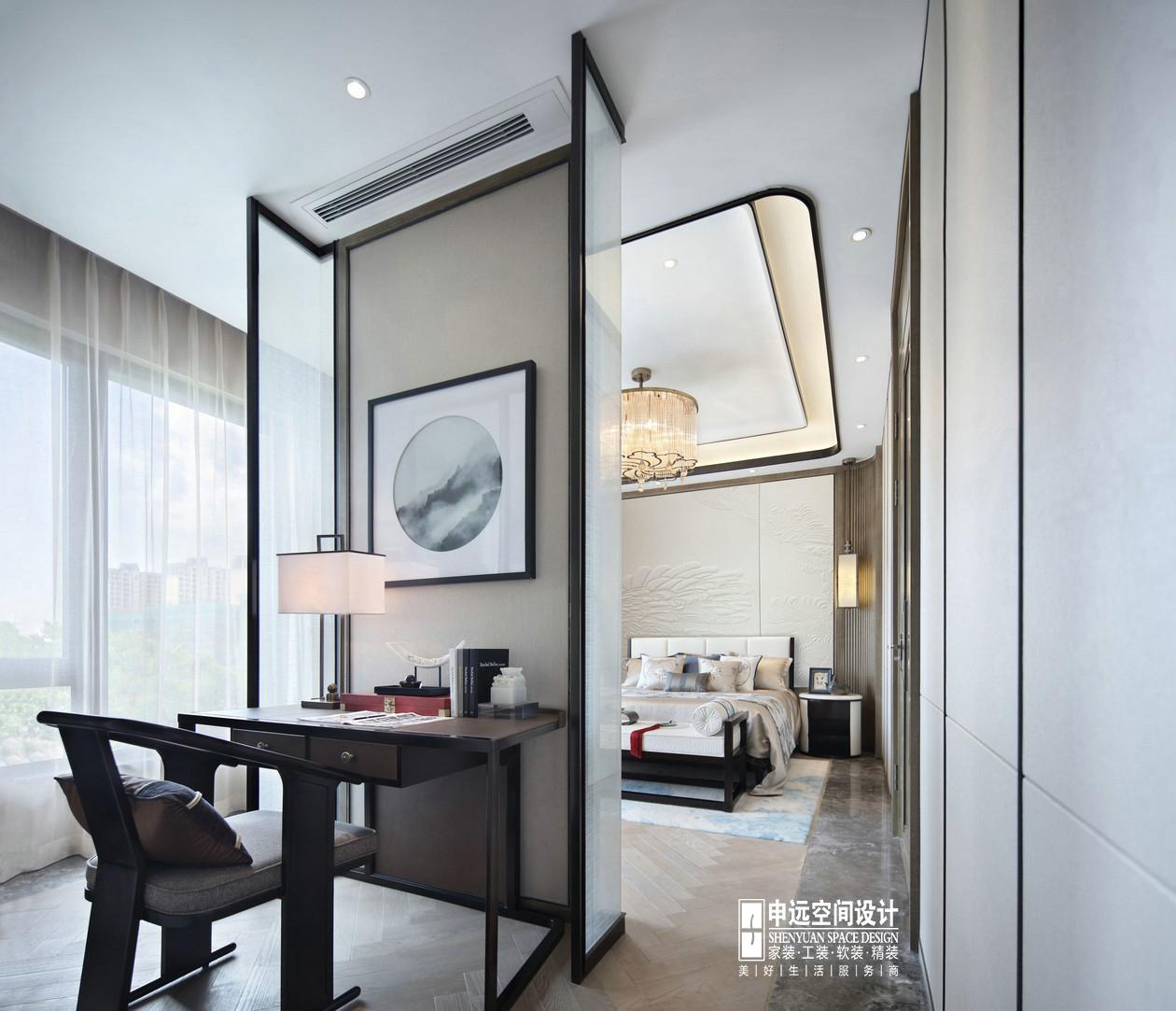 别墅 北京申远 申远设计 新中式 卧室图片来自申远空间设计北京分公司在北京申远空间设计-新中式风格的分享