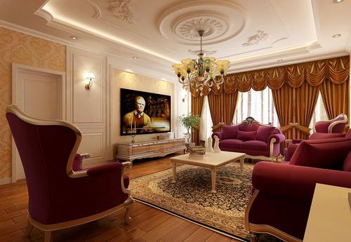 欧式 客厅图片来自今朝宜居装饰在欧式风格,简单奢华的分享