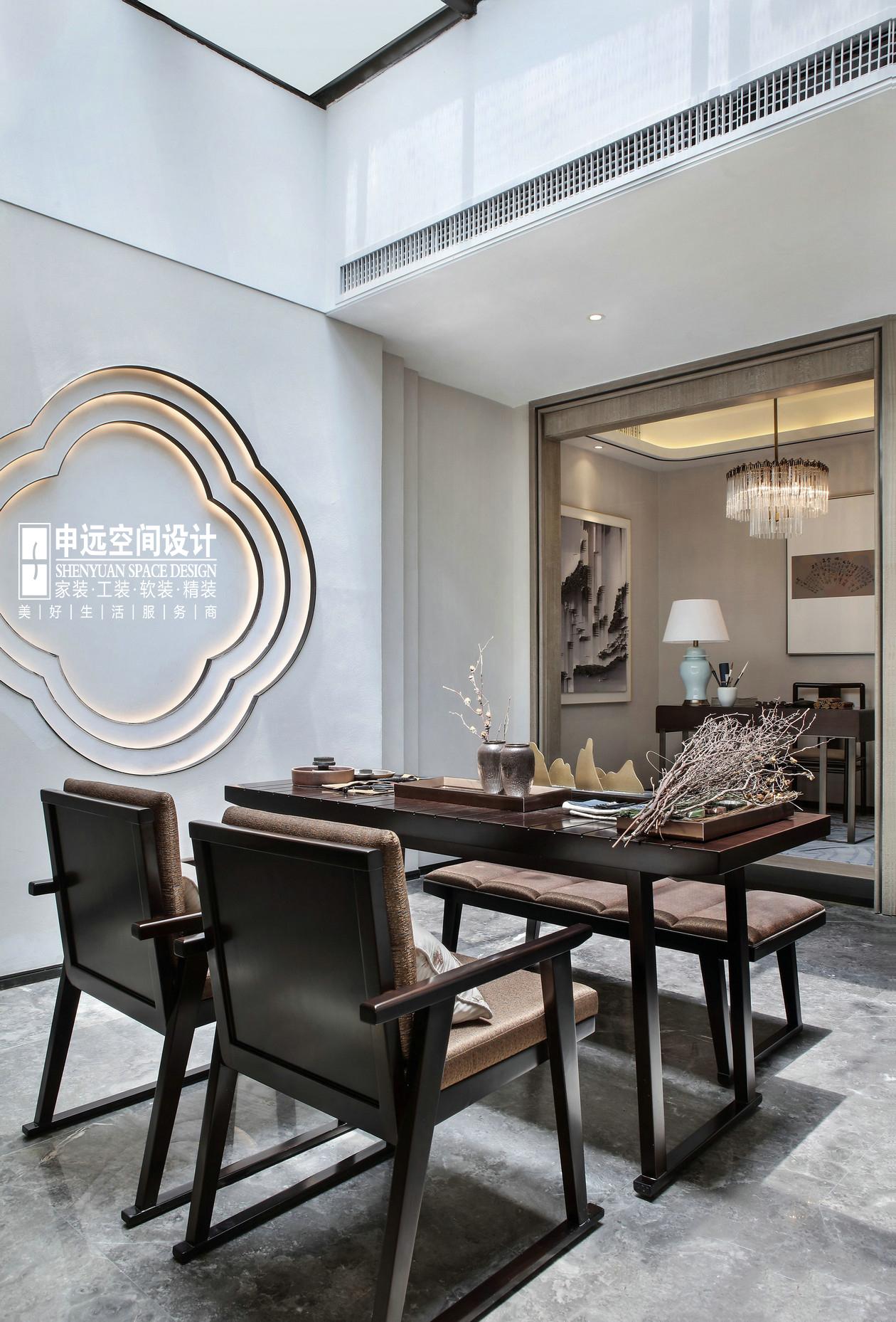 别墅 北京申远 申远设计 新中式 餐厅图片来自申远空间设计北京分公司在北京申远空间设计-新中式风格的分享