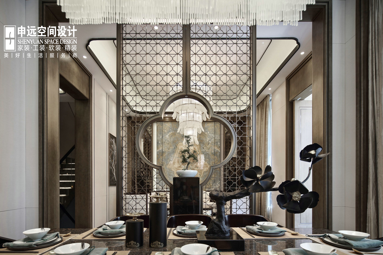 别墅 北京申远 申远设计 新中式 客厅图片来自申远空间设计北京分公司在北京申远空间设计-新中式风格的分享