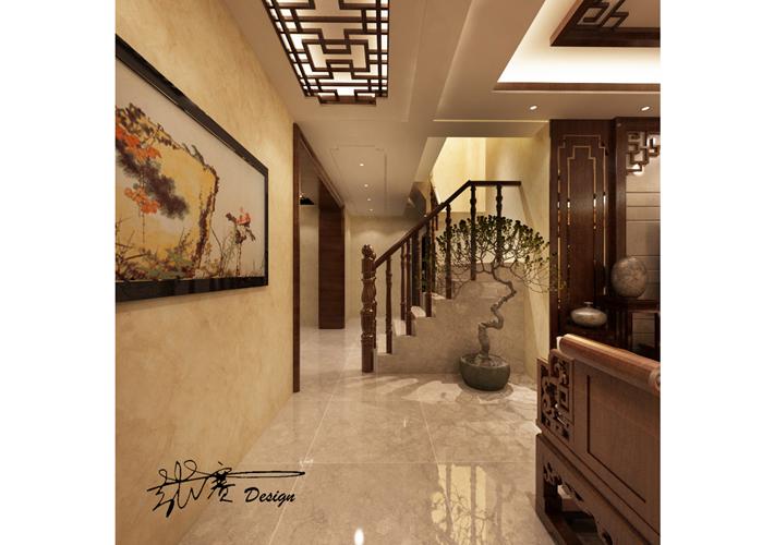楼梯图片来自沈阳百家装饰小姜在百家装饰保利五月花286平混搭的分享