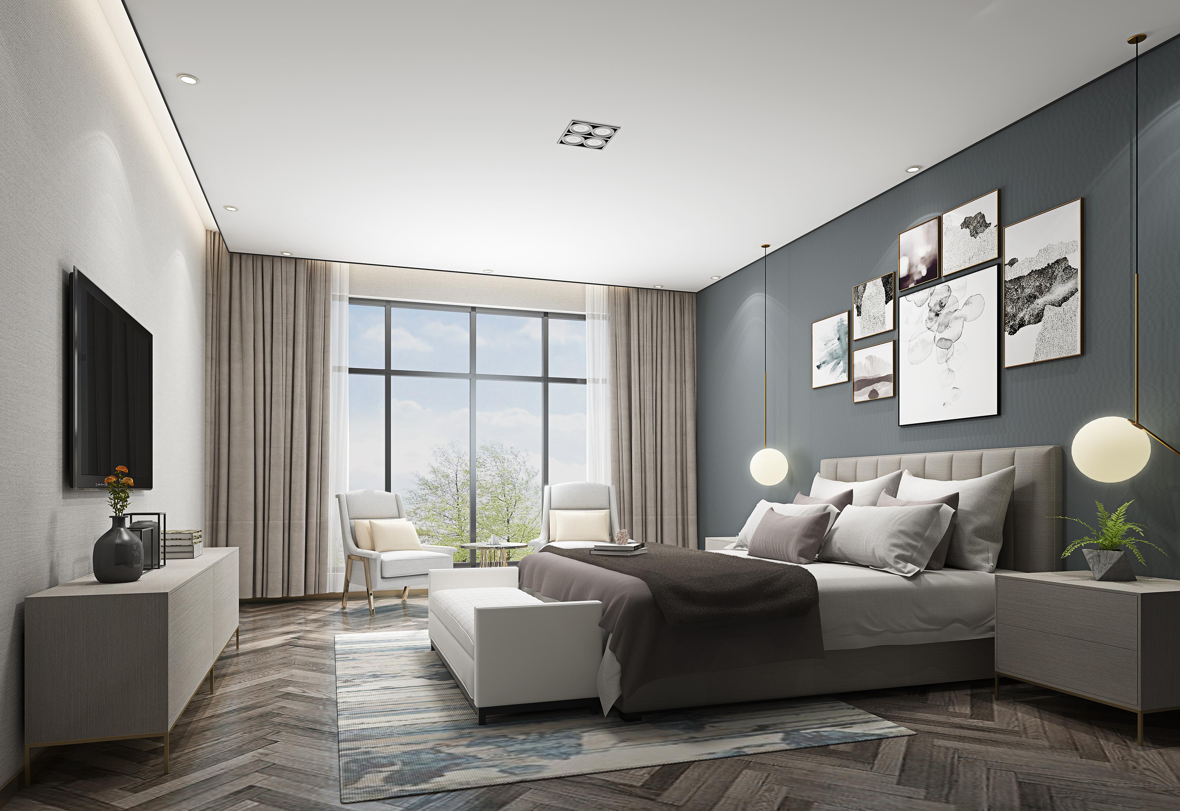 简约 卧室图片来自朱平波在长滩壹号 — 雅境的分享