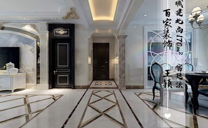 大户型 城建北尚 宫廷法式 客厅图片来自百家设计小刘在城建北尚170平宫廷法式的分享