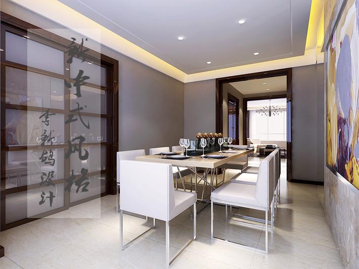 餐厅图片来自沈阳百家装饰小姜在百家装饰奉天九里177平新中式的分享