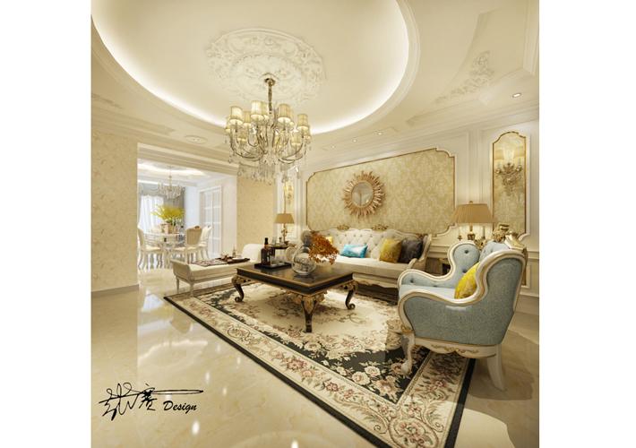 客厅图片来自沈阳百家装饰小姜在百家装饰保利五月花286平混搭的分享