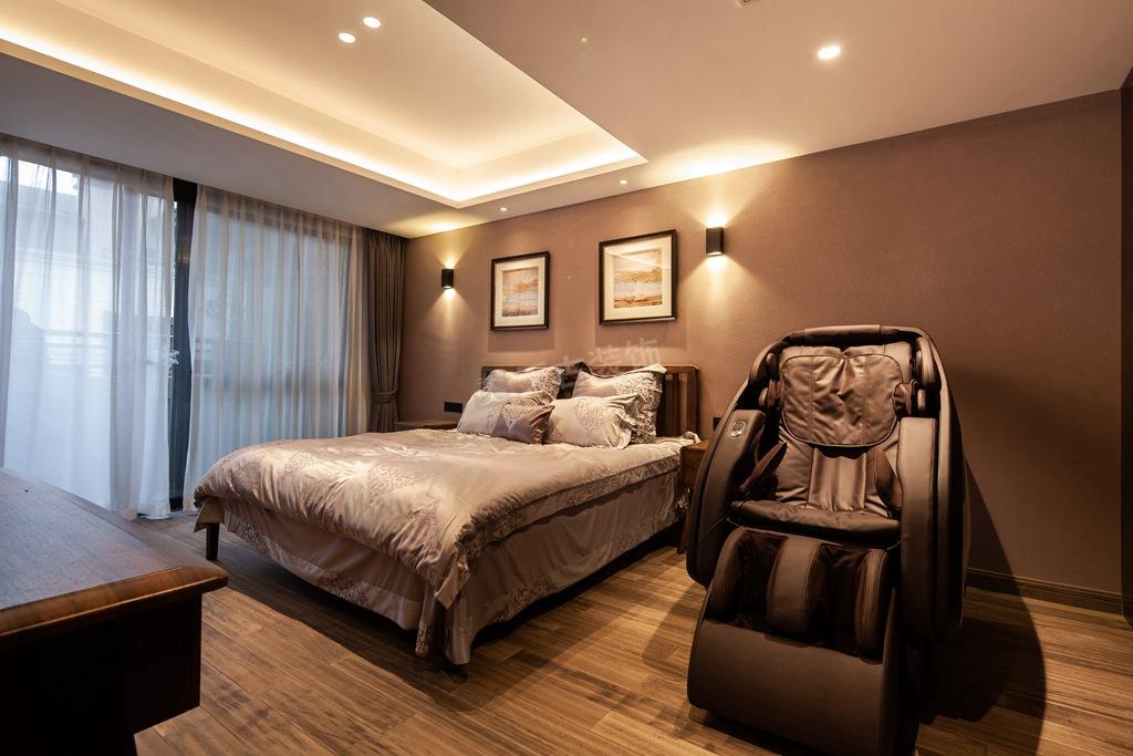 现代简约 别墅设计 天古装饰 卧室图片来自重庆天古装饰公司在茅莱山居叠拼别墅装修完工实景图的分享