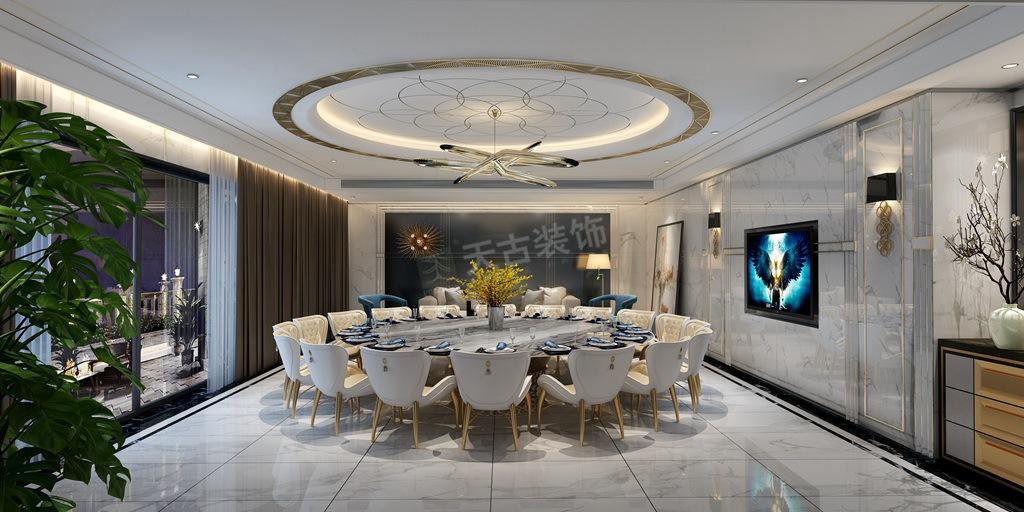 现代轻奢 天古装饰 新江与城 餐厅图片来自重庆天古装饰公司在龙湖新江与城天奕别墅装修效果图的分享