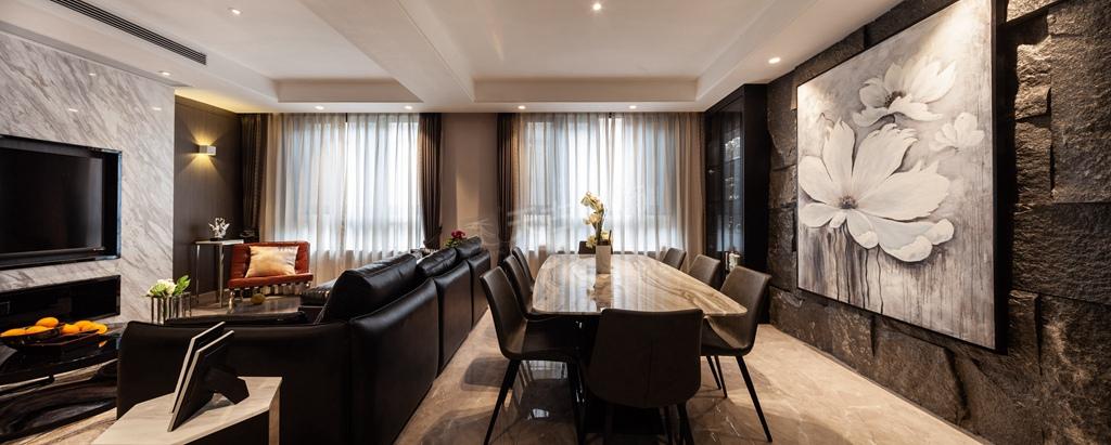 现代简约 别墅设计 天古装饰 餐厅图片来自重庆天古装饰公司在茅莱山居叠拼别墅装修完工实景图的分享
