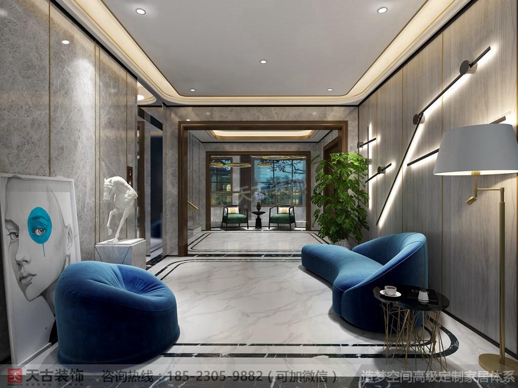 现代轻奢 天古装饰 新江与城 客厅图片来自重庆天古装饰公司在龙湖新江与城天奕别墅装修效果图的分享