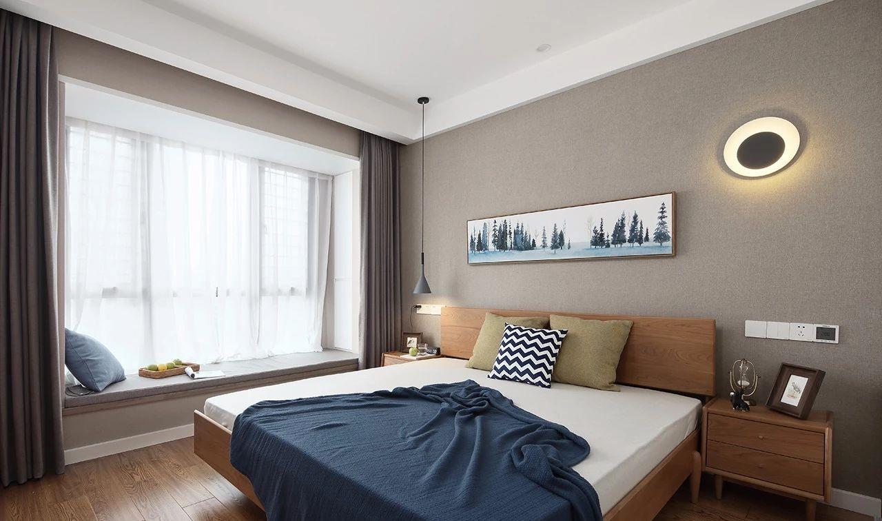 简约 现代 混搭 江北 鹏友百年 半包 基装 全案设计 家装 卧室图片来自鹏友百年装饰在现代简约三室 灰调木色自然空间的分享