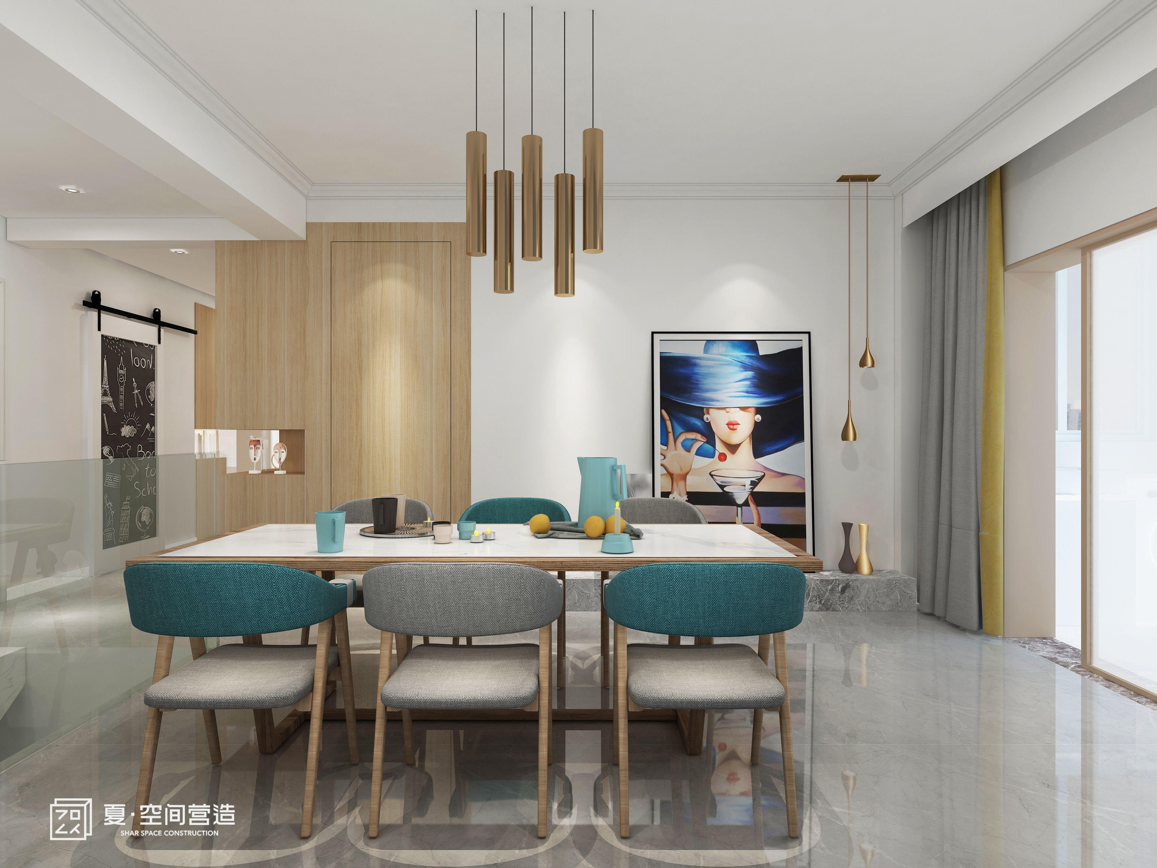 欧式 白领 80后 餐厅图片来自夏空间营造在夏•空间营造丨胥江湾花园的分享