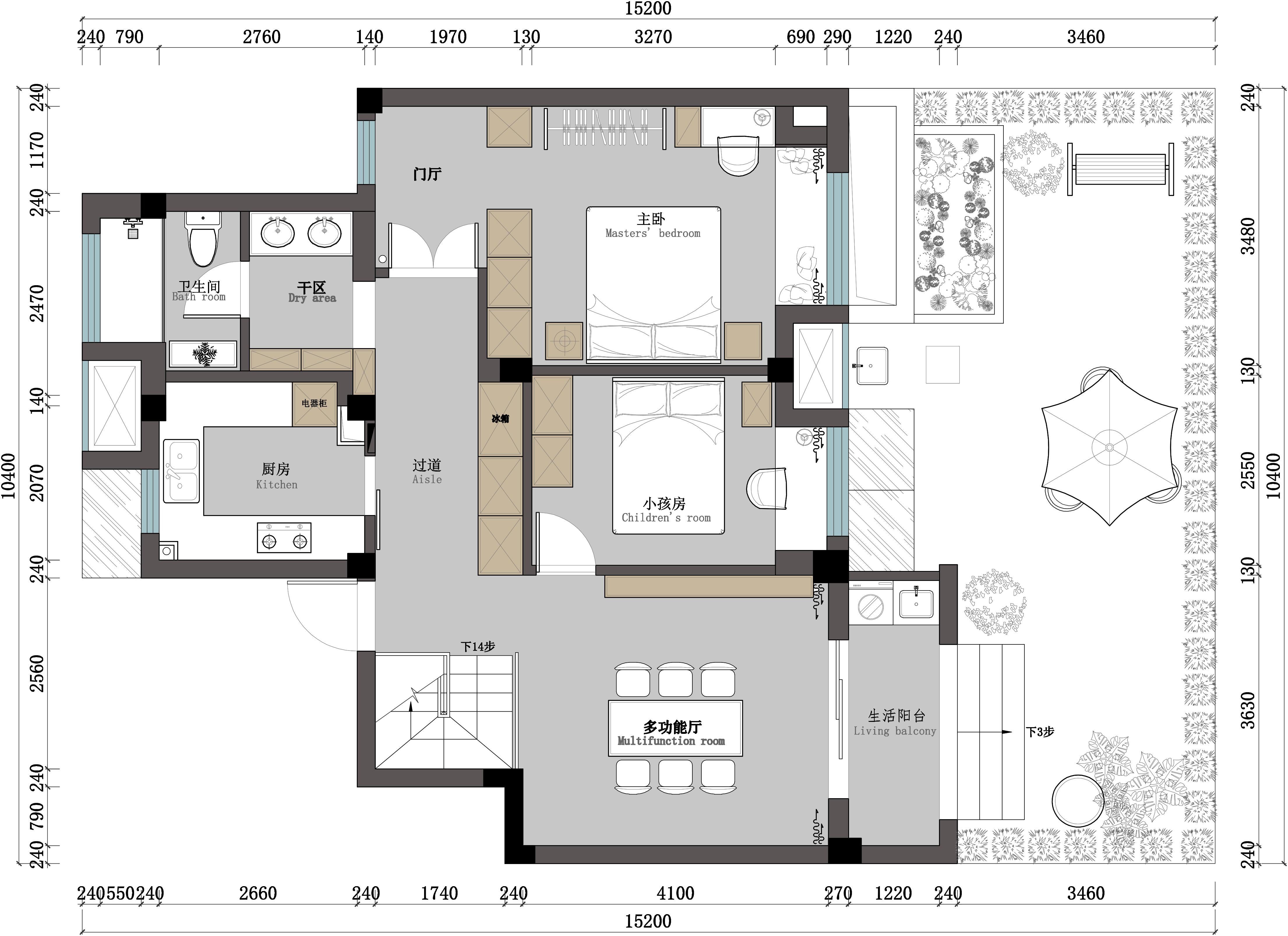 欧式 白领 80后 户型图图片来自夏空间营造在夏•空间营造丨胥江湾花园的分享